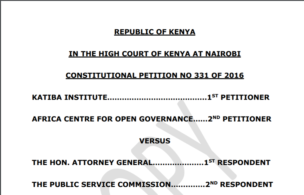 Judgment: Constitutional Petition No. 331 of 2016