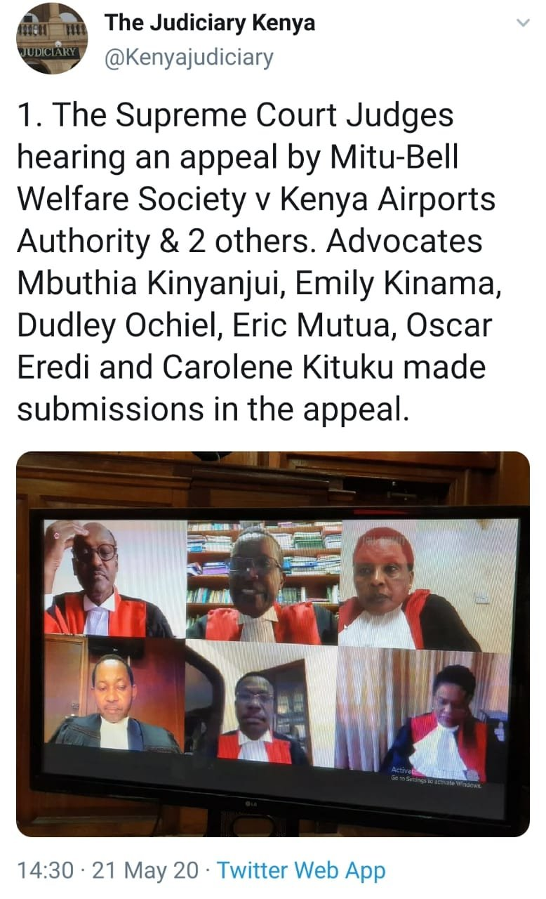 Mitu-Bell Welfare Society v Kenya Airports Authority, SC Petition 3 of 2018