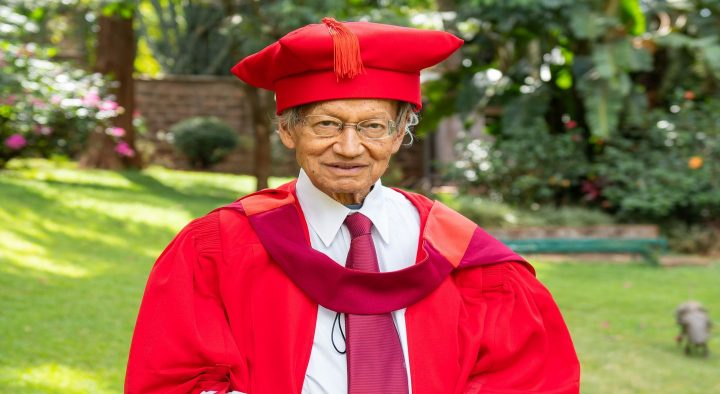 Professor Yash Pal Ghai awarded an honorary degree by the University of Pretoria
